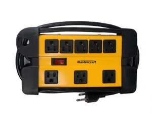 Power bar with 8 outlets