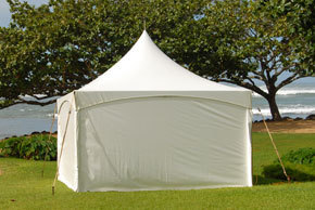 Solid marquee tent wall