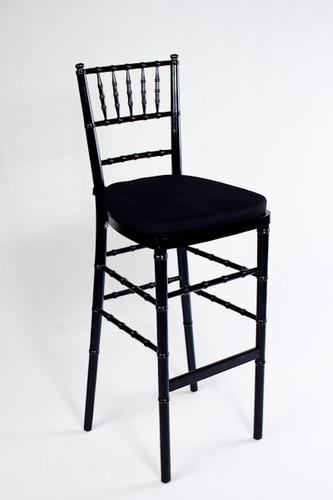 Black Chivari bar stool with cushion