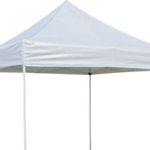 White 10 x 10 pop up tent