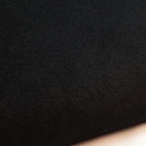 Black plush drape