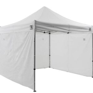 White pop up tent wall
