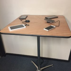 power charging cocktail table