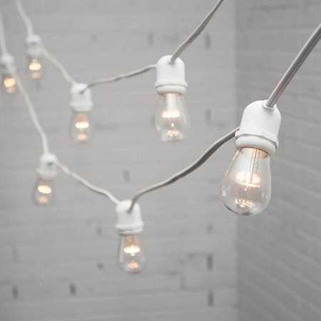 white edison bulb strings