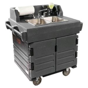 Portable hot water wash station