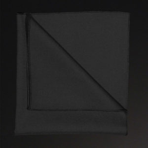 Black table linen