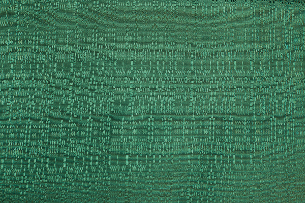 Green table skirt