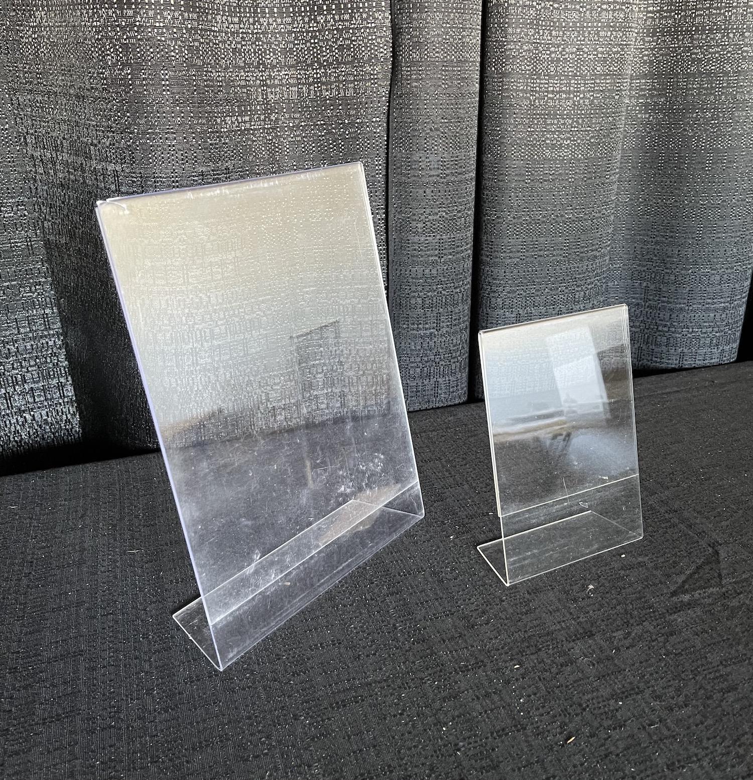 Acrylic slanted display stand
