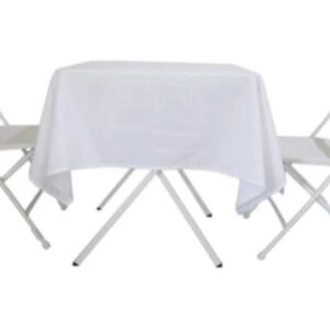 """27"""" white table with chairs"""