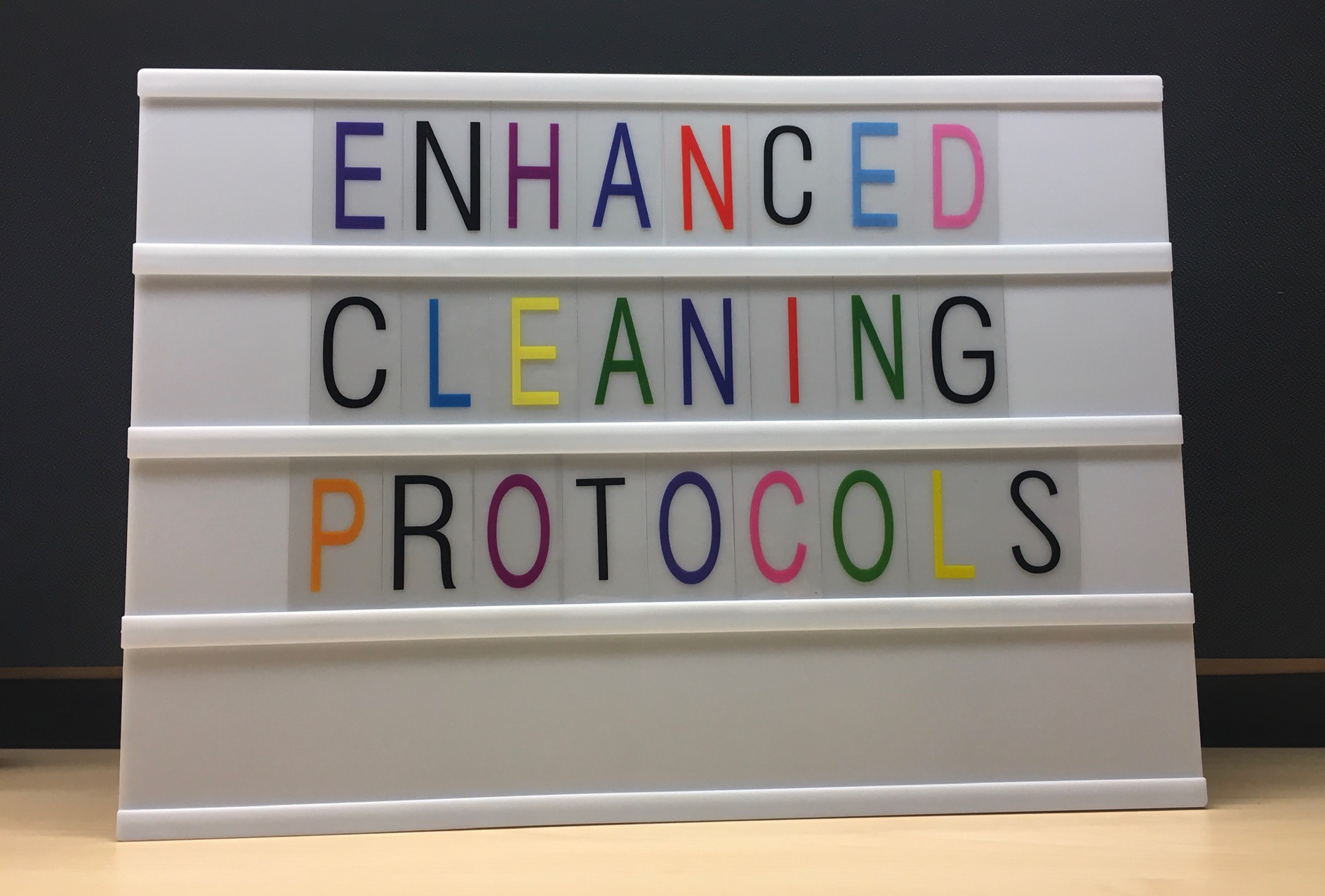 enhanced cleaning protocols sign