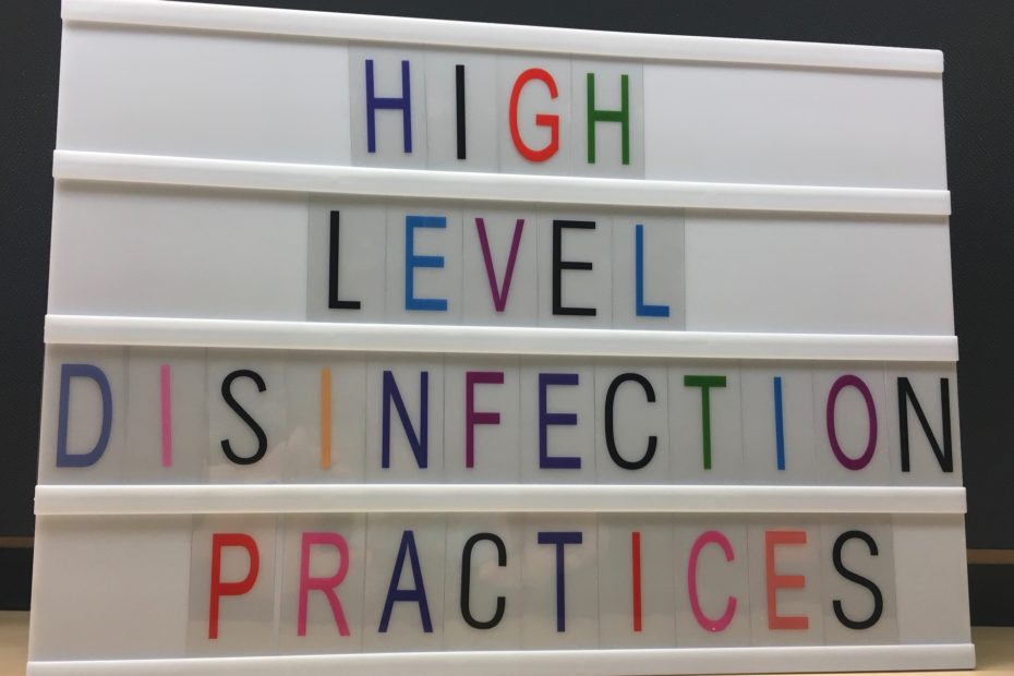 high level disinfection practices