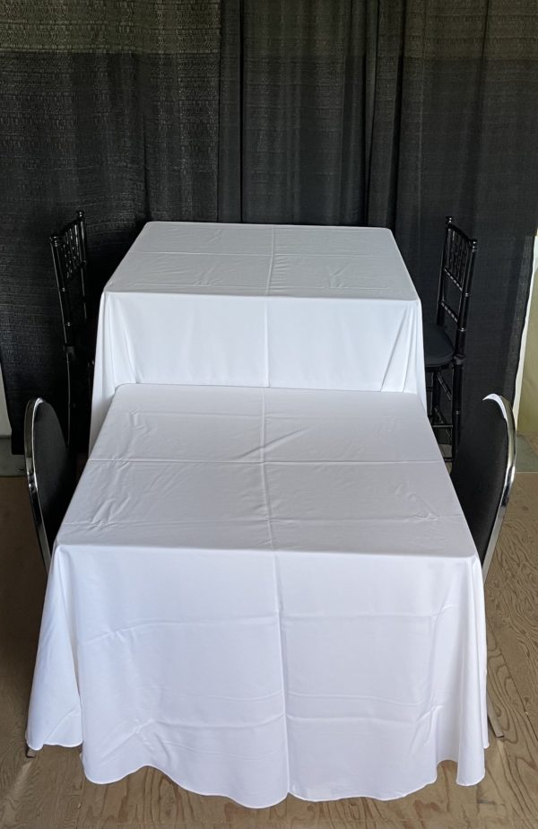"""36"""" square tables with linen"""