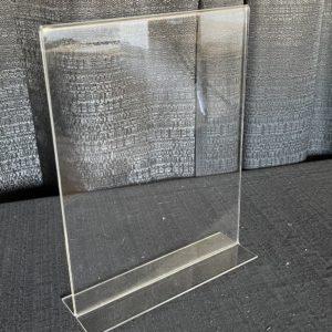 "Acrylic table display sign 11""x14"""