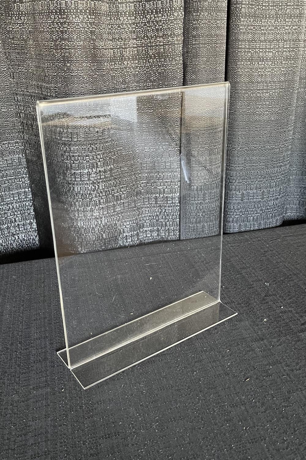 Acrylic table display sign 11×14