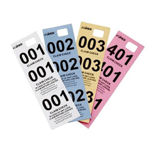 Coat check tickets