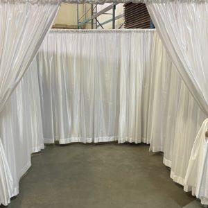enclosed drape wedding canopy