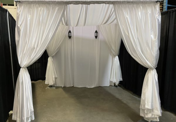 wedding canopy with swag top