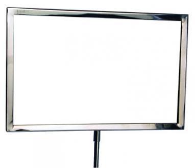 stanchion chrome frame sign holder
