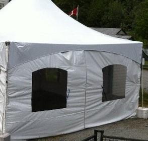 zipper door tent wall