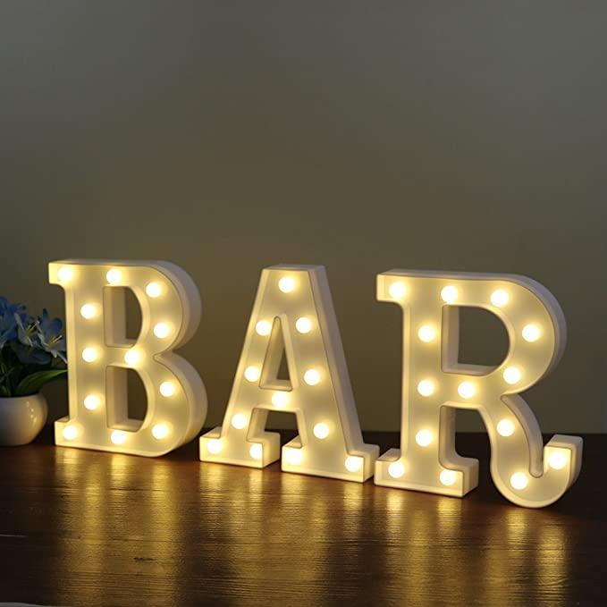 bar LED letters