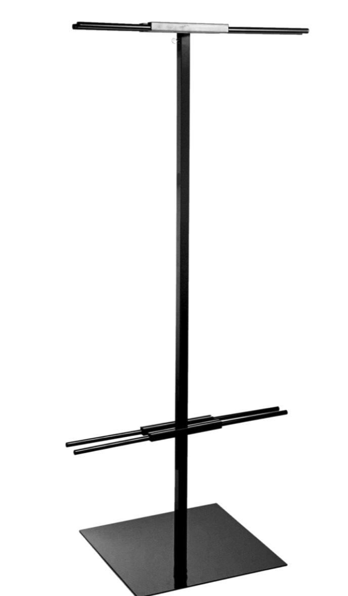 floor standing banner holder