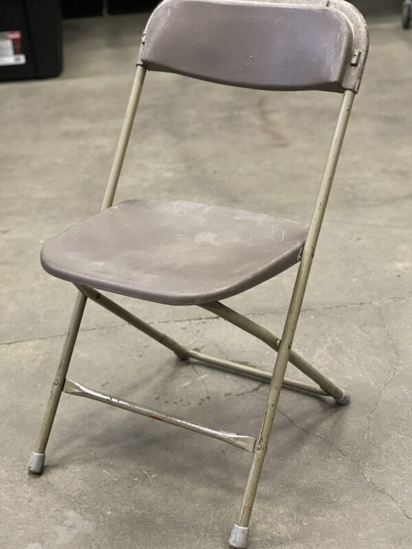 used brown folding chair