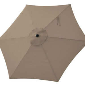 beige 7' umbrella