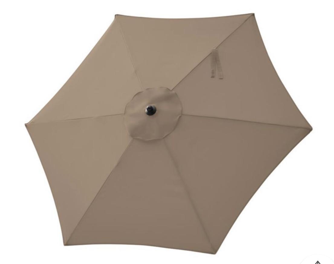 beige 7′ umbrella