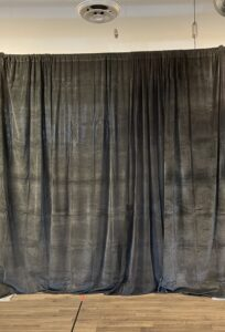 Velour drape
