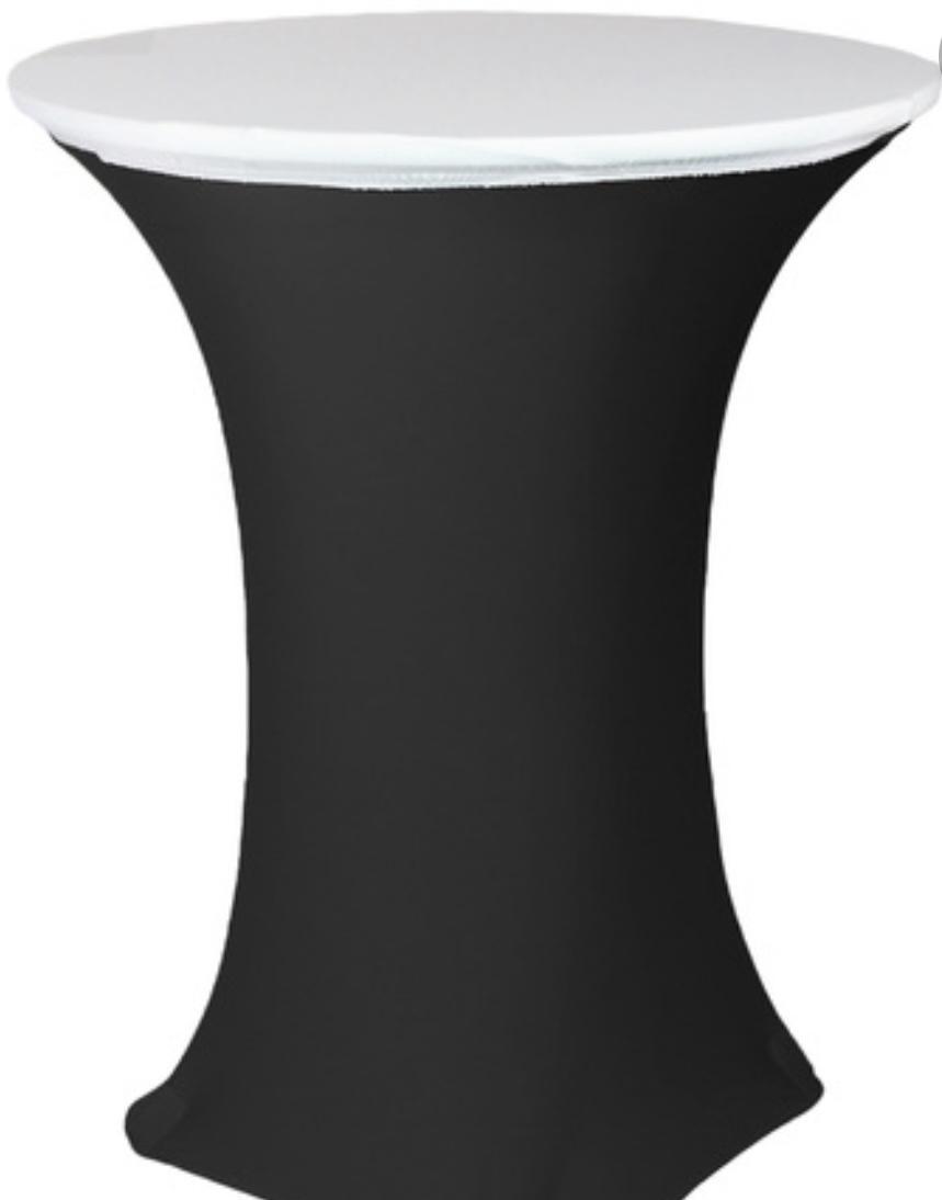 White spandex table topper