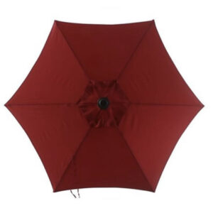 red 7 ft umbrella top